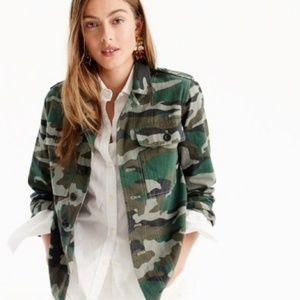 JCREW Camo Shirt Jacket NWT
